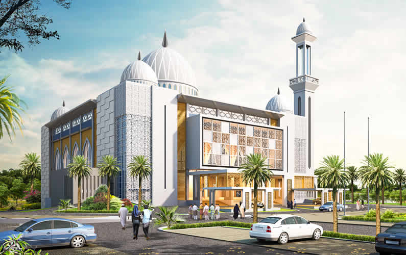New Mosque For Housing Scheme Kampong Meragang